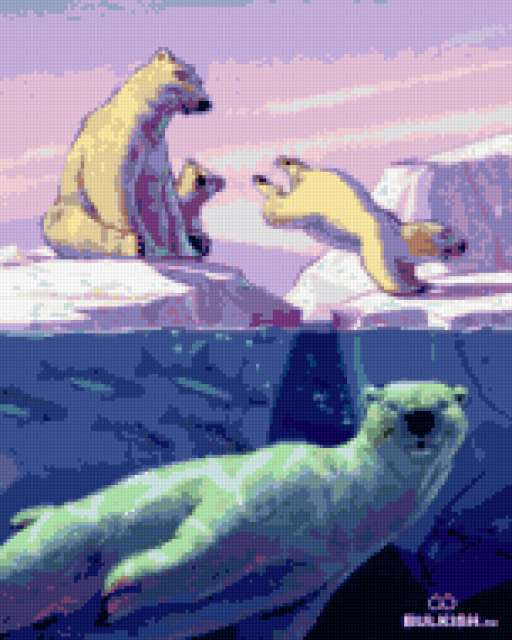 Белые медведи., предпросмотр