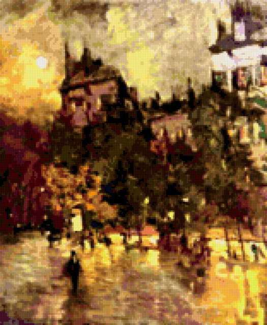 Париж после дождя.