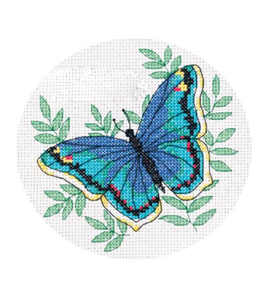 Голубая бабочка, бабочка