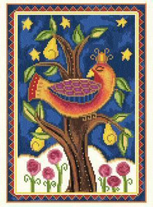 Птица счастья, птицы, дерево,
