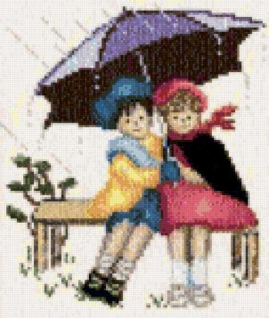 Двое под дождем, двое, дождь,