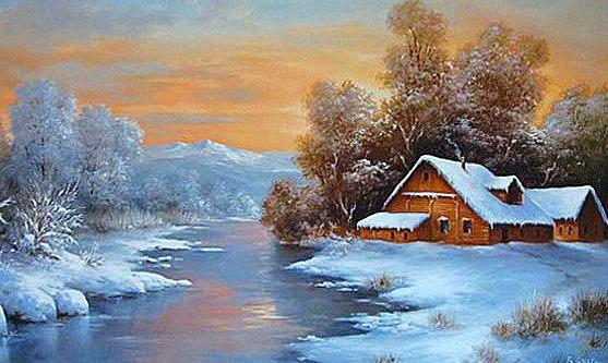 Зимний пейзаж, зима, снег,