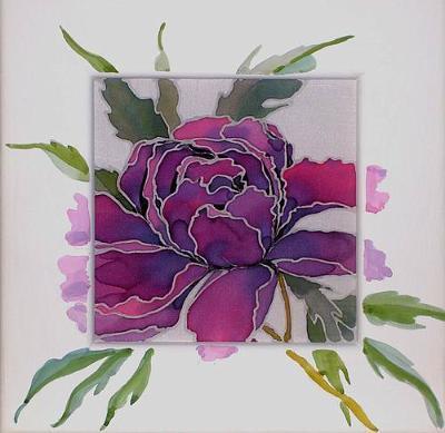 Пион - акварель, пионы, цветы