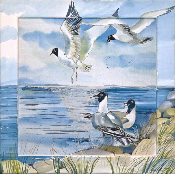 Чайки и море, оригинал