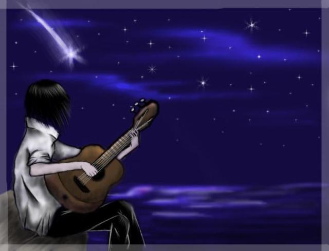 море, звёздное небо