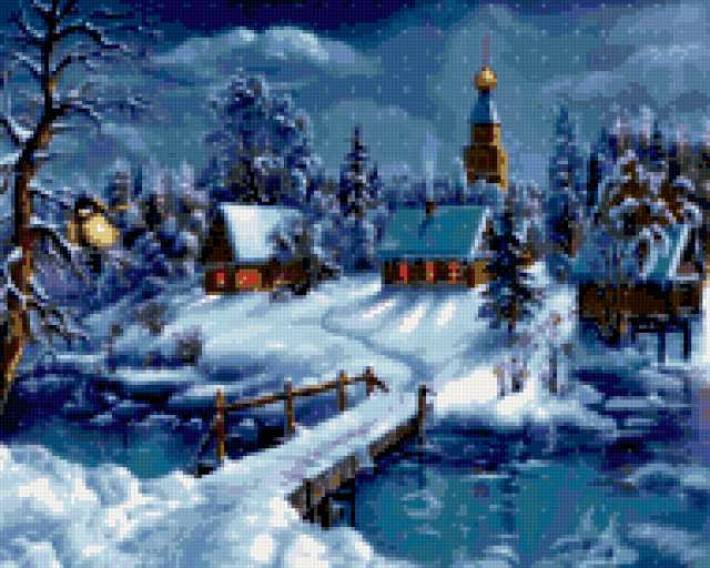 Зимний вечер., предпросмотр