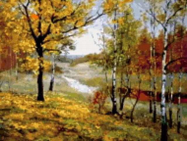 Золотая осень, пейзаж.