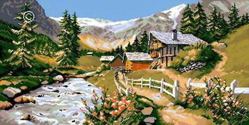 Альпийский пейзаж, природа