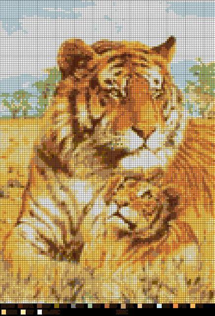 Тигрица с тигренком, оригинал