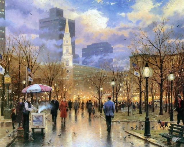 Фото осенний дождь в городе