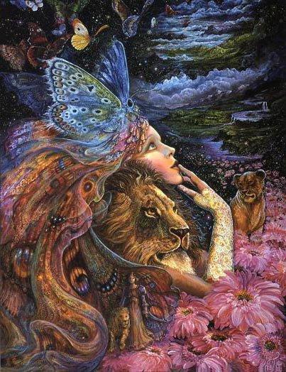 Девушка со львом, оригинал
