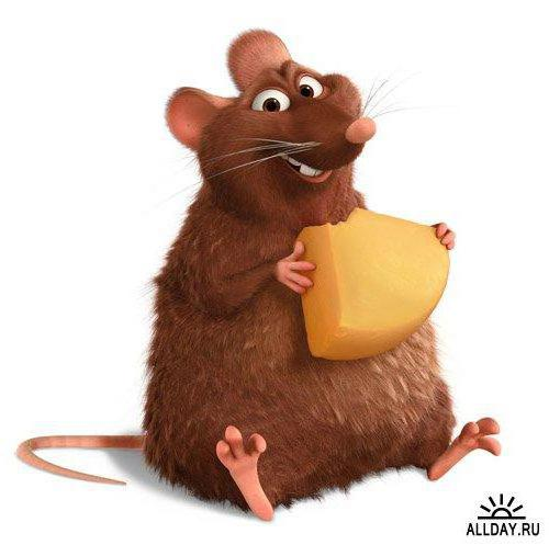 Рататуй, мультики, мыши