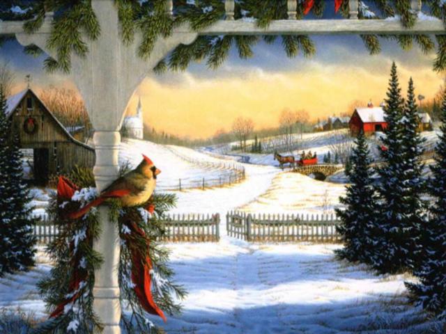 Зимние праздники, оригинал