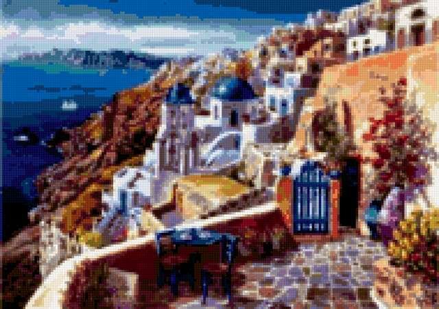 Остров Санторини.