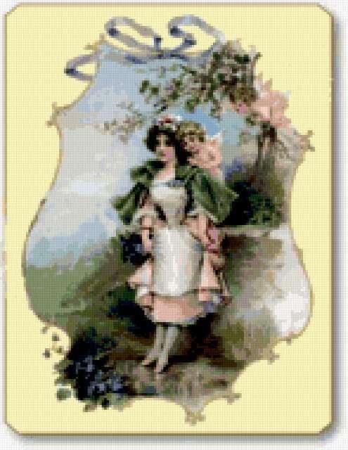 Ретро-открытка весна