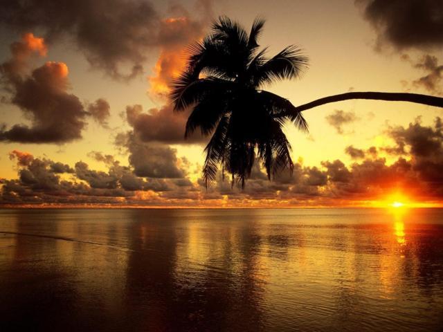 Рассвет над морем..., оригинал