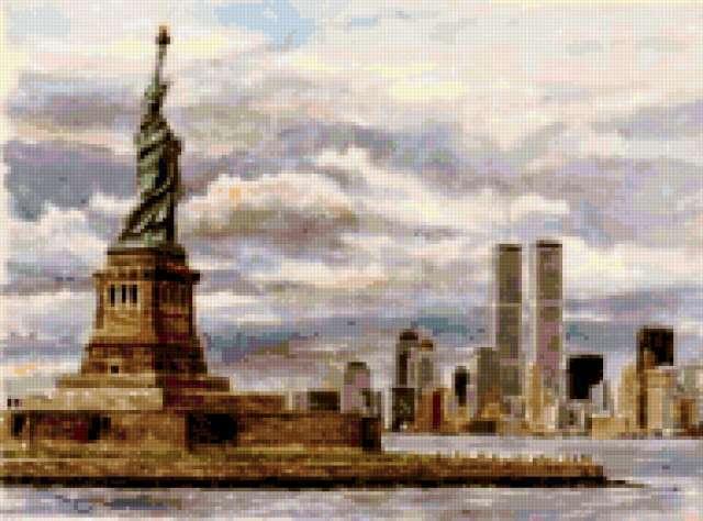 Статуя Свободы в Нью-Йорке,