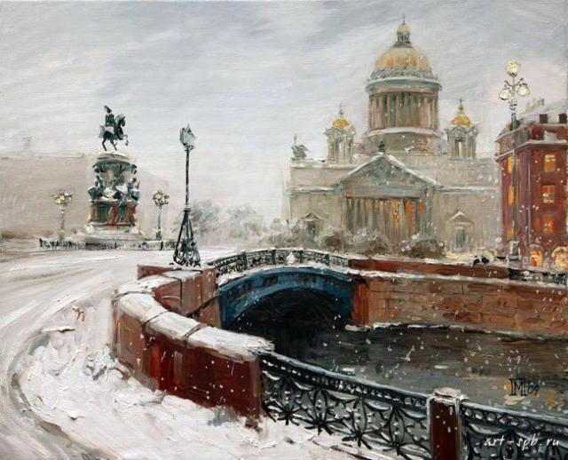 Петербург. Вид с синего моста.