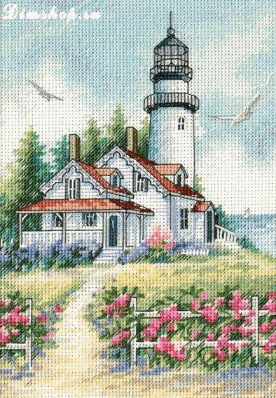 К схеме вышивки «Дом у маяка»