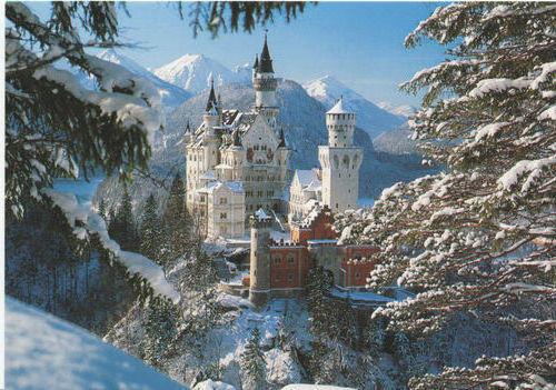 Зимний замок Нойшванштайн ,