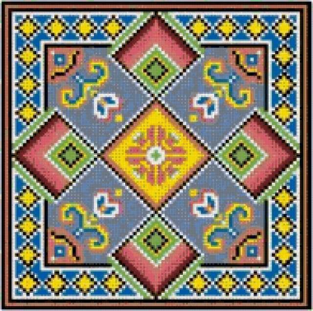 Вышивка крестом на подушках схемы 77