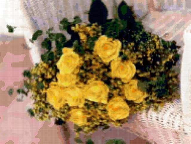 Букет желтых роз, предпросмотр
