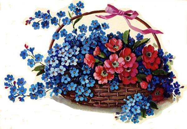 Корзина цветов, оригинал