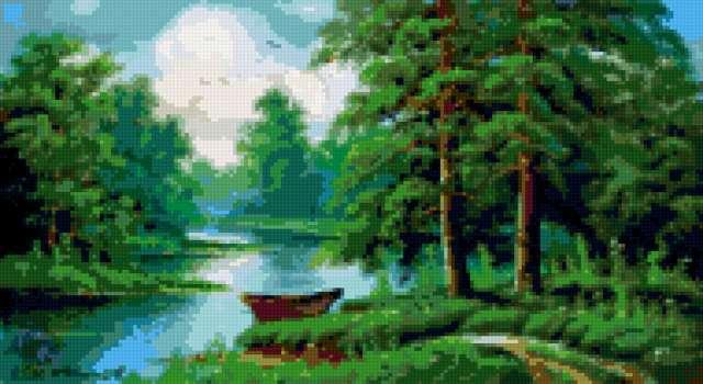 Летний пейзаж, лето, природа,
