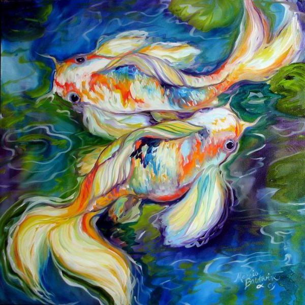 Подушка Две золотые рыбки,