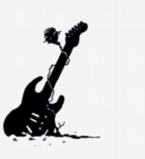 Гитара и роза, гитара
