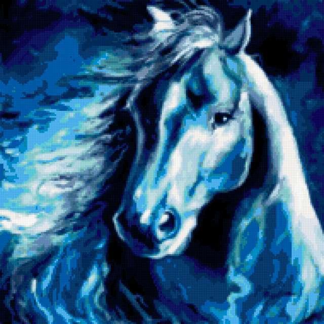 Подушка Лунный конь