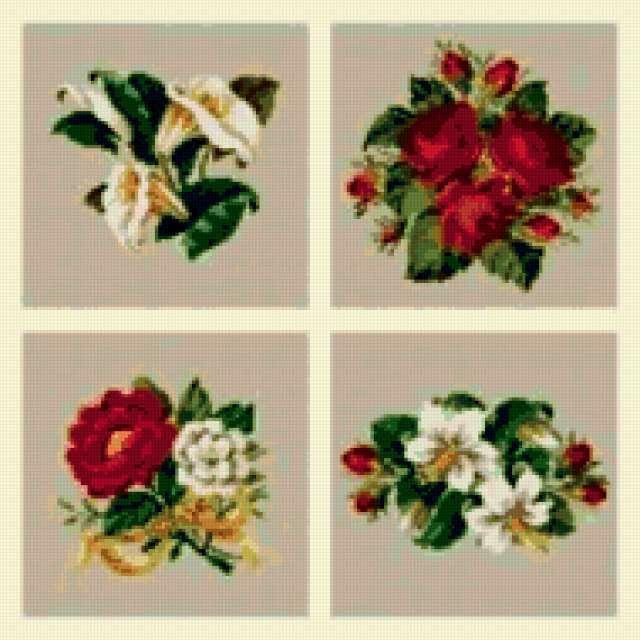 Маленькие букеты, цветы, букет