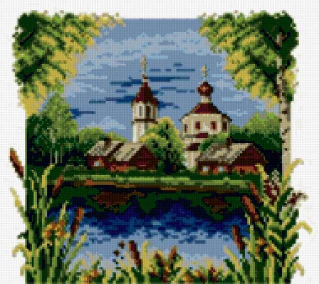 Схемы вышивки церквушка