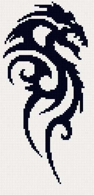 Черно-белый дракон