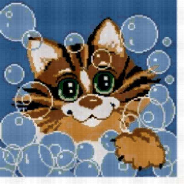 """Подушка """"Кот в пузырях"""","""