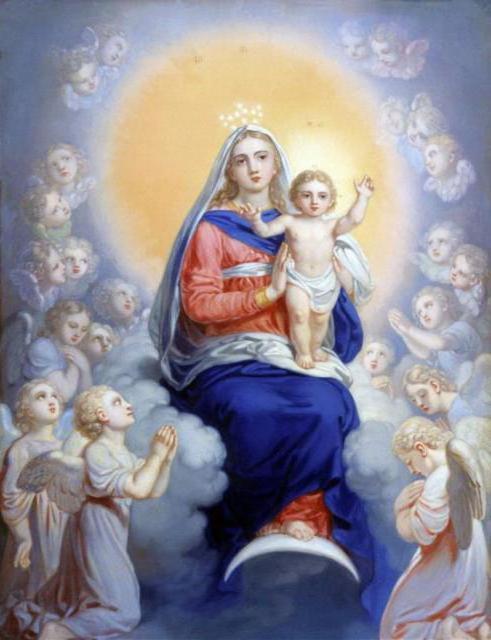 Схема вышивки «Дева Мария в