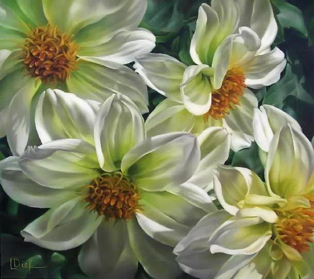 Белые цветы, оригинал