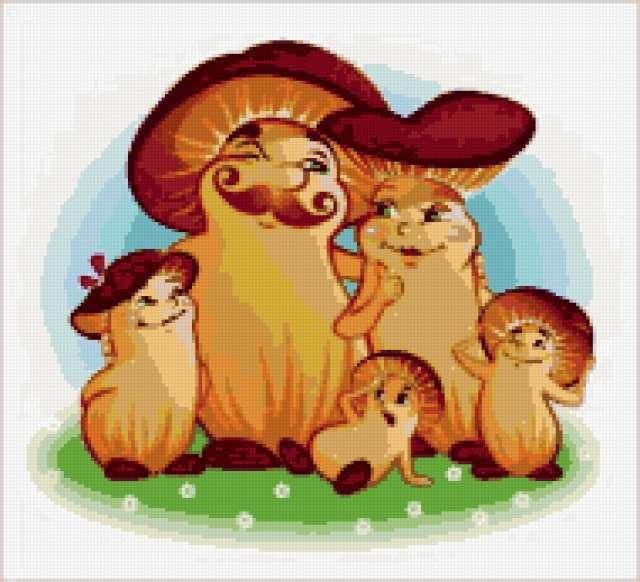 Семейка грибочков