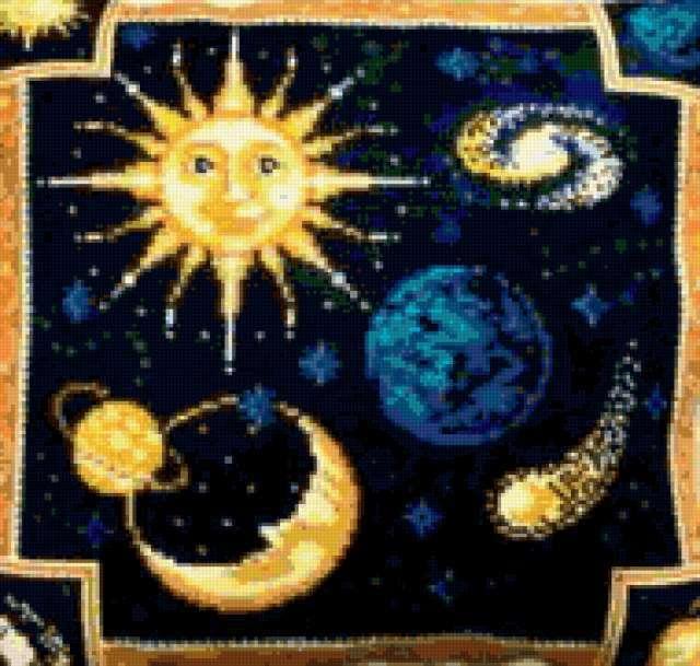 космос, планеты, подушка,