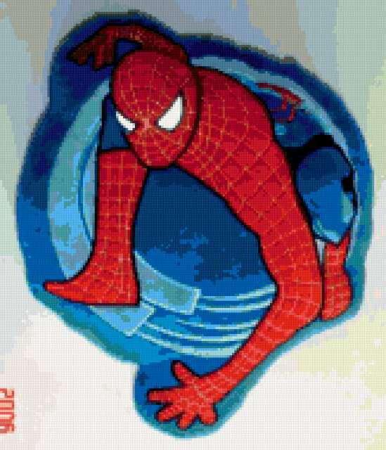 Схема вышивка человек паук