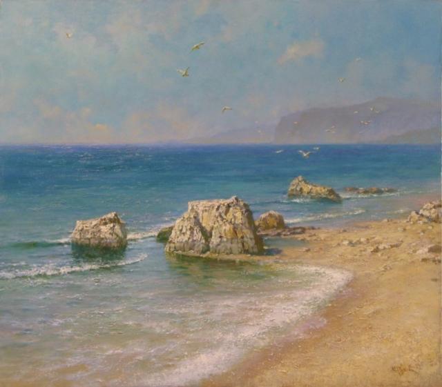 Море-крым, море, пейзаж