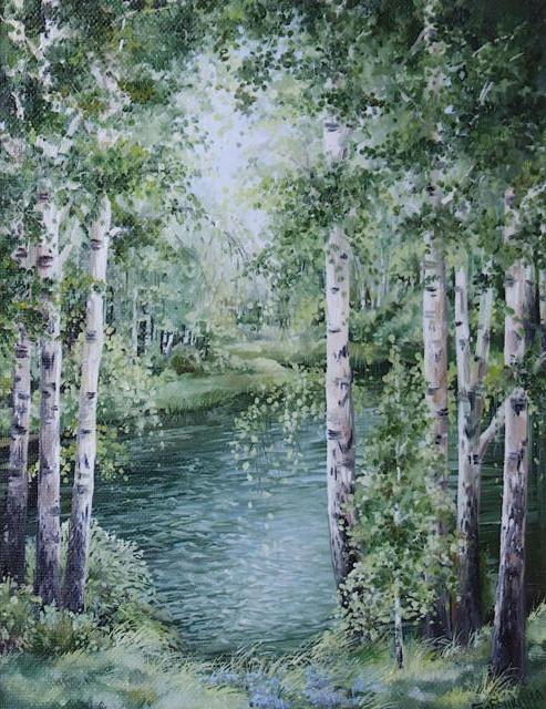 Березки, природа, пейзаж