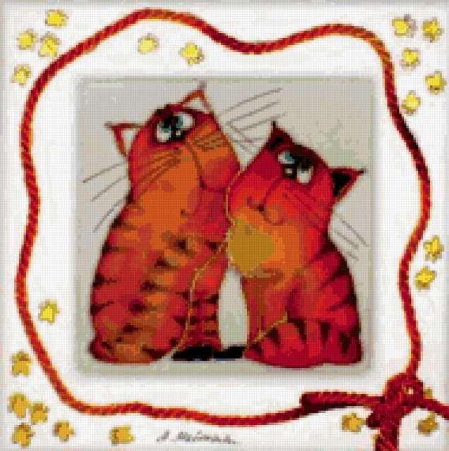 Влюбленные коты, предпросмотр