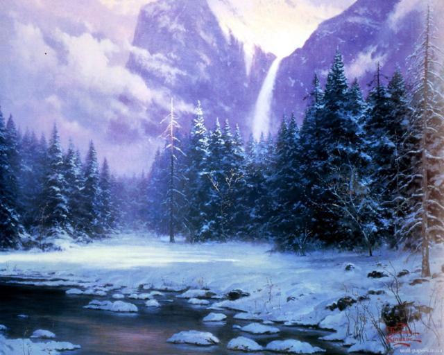 Вечер в горах..., оригинал