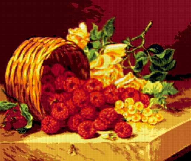 Розы и малина, предпросмотр