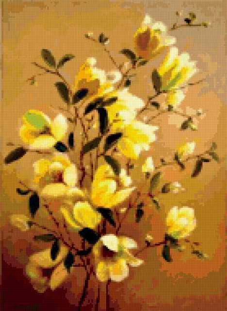Желтые цветы, цветок, цветы,