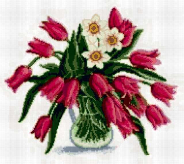 Тюльпаны и нарциссы, цветы,