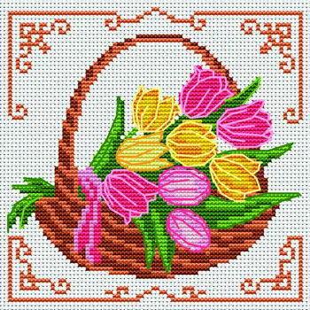 Тюльпаны в корзине, оригинал