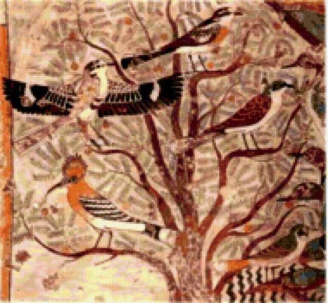 Египет, египет, фреска, птицы