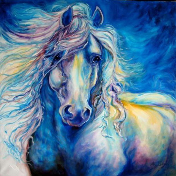 Голубая лошадь, оригинал